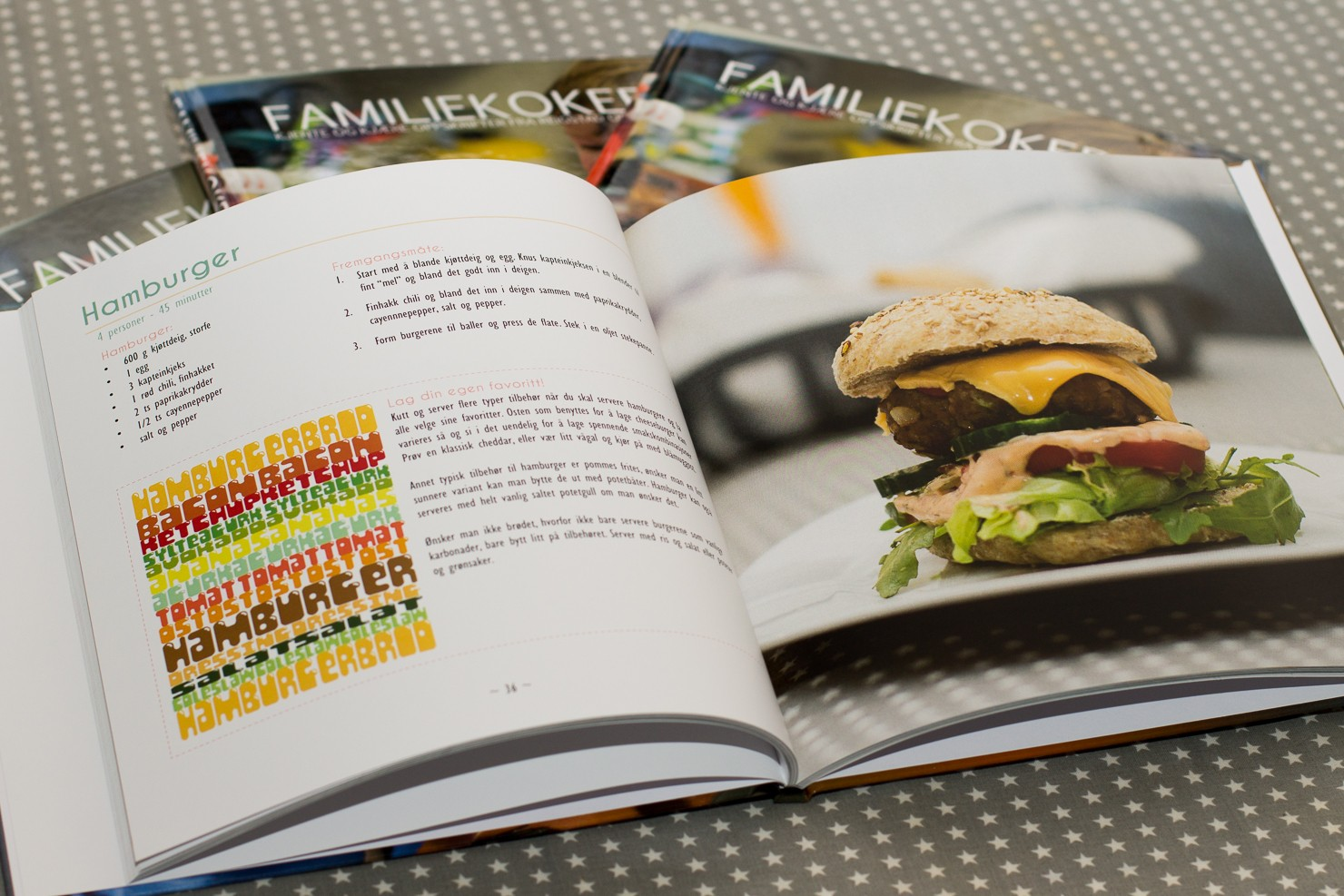 Familiekokebok, innhold, hamburger