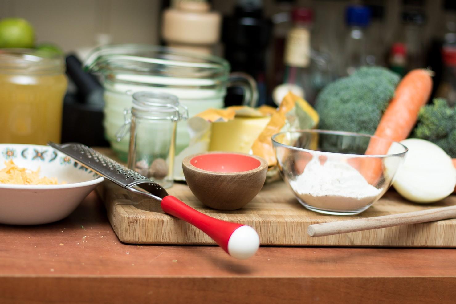 Kremet brokkoli- og cheddarsuppe