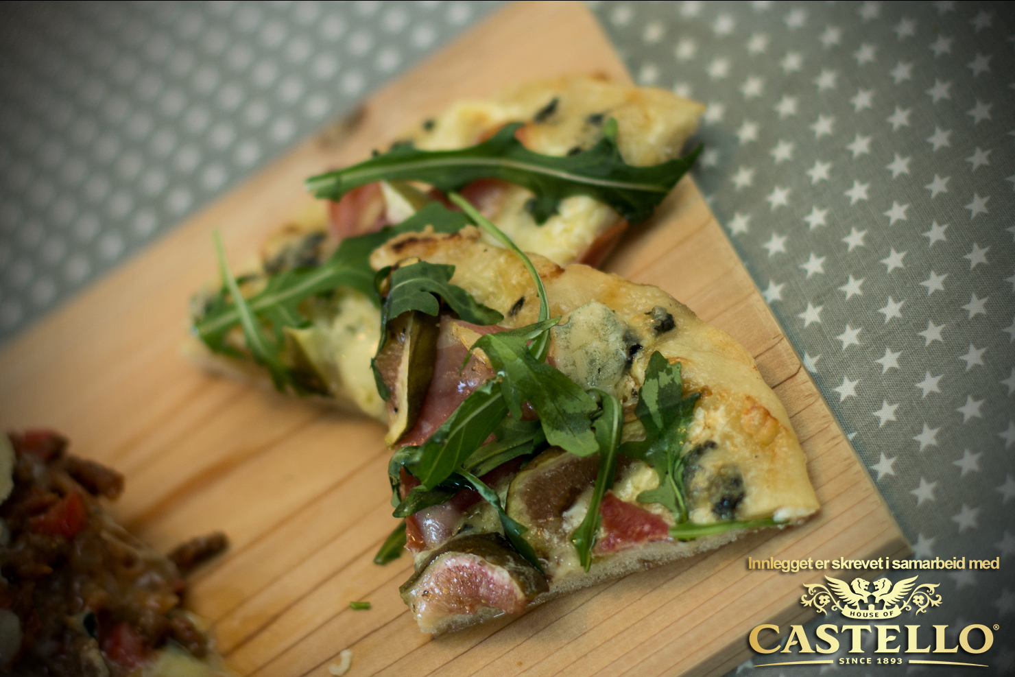 Castello Blå-ost-pizza med fiken og spekeskinke | Castello
