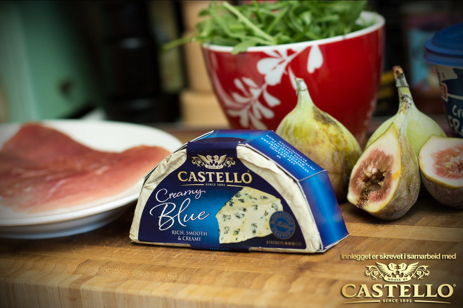 Ingredienser | Castello Blå-ost-pizza med fiken og spekesinke | Castello