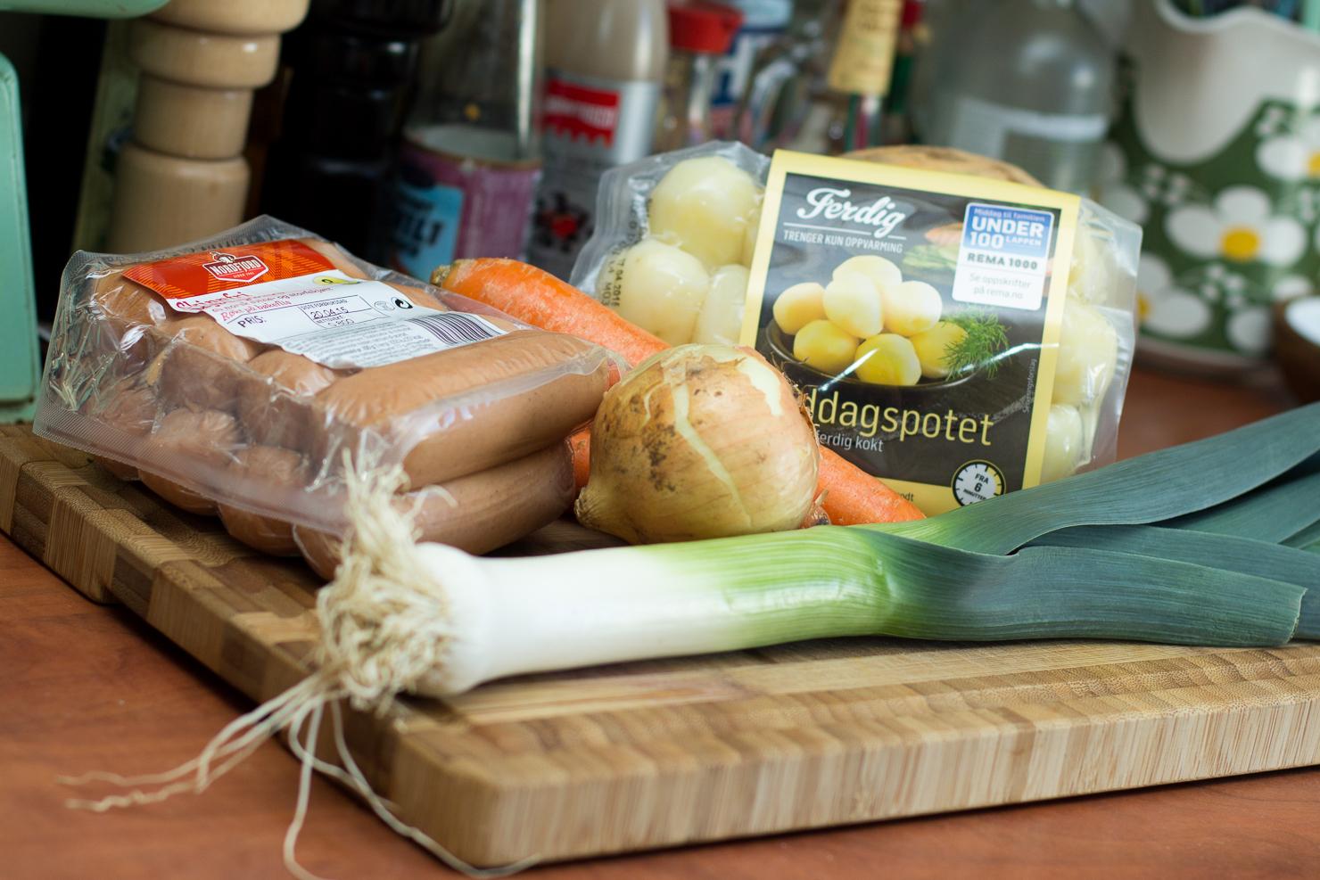 Ingredienser | Pytt i panne med mager kjøttpølse