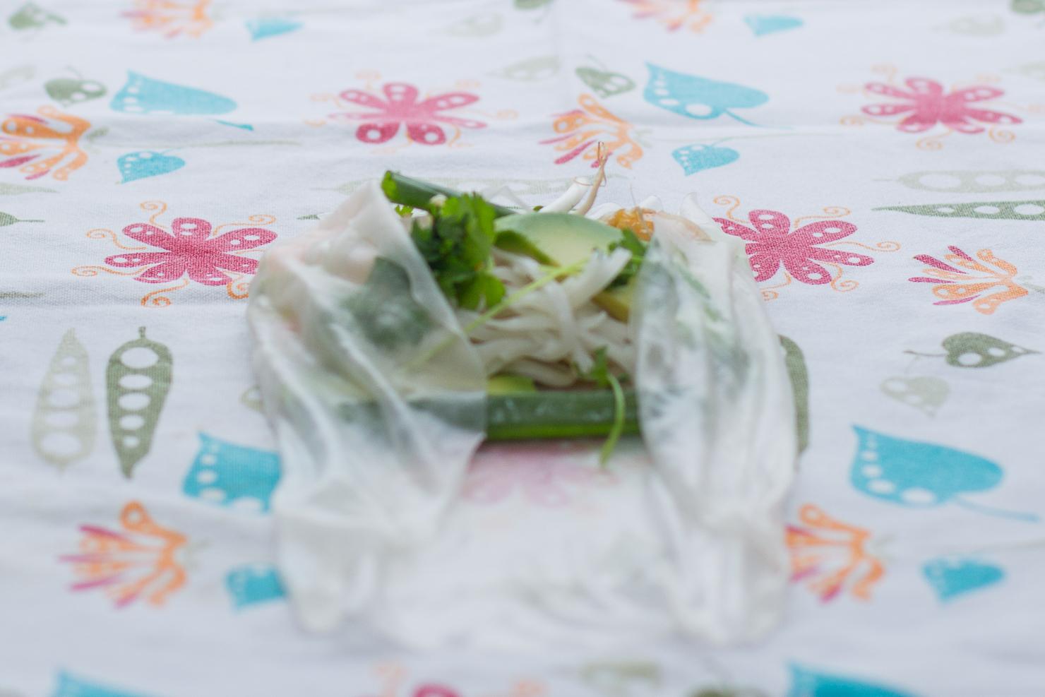 Bretting | Ferske vårruller med scampi