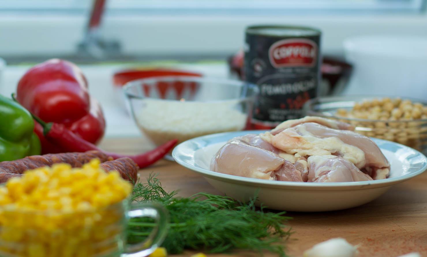 Ingredienser | Kyllinggryte med ris og chorizo