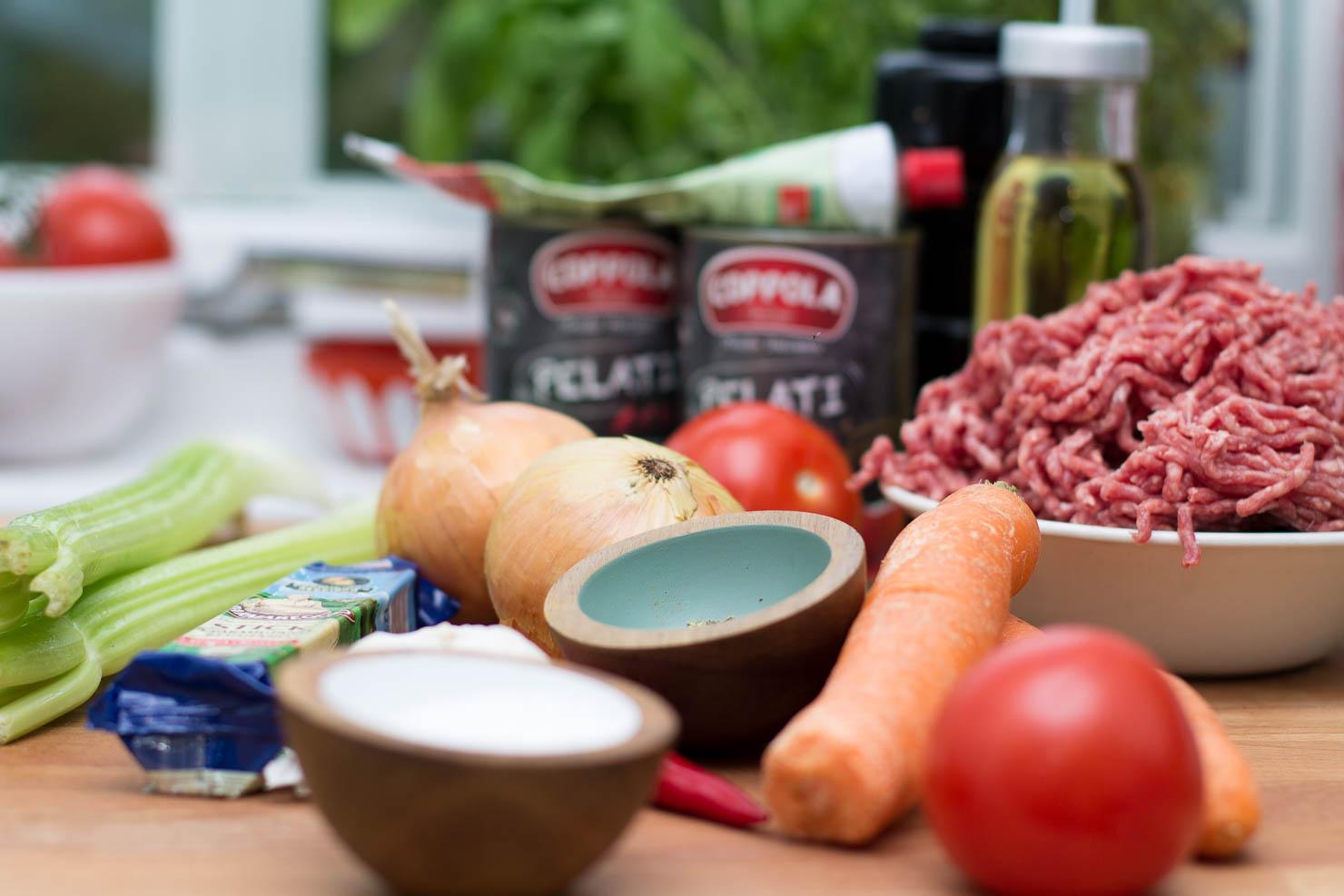 Ingredienser | Spaghetti bolognese