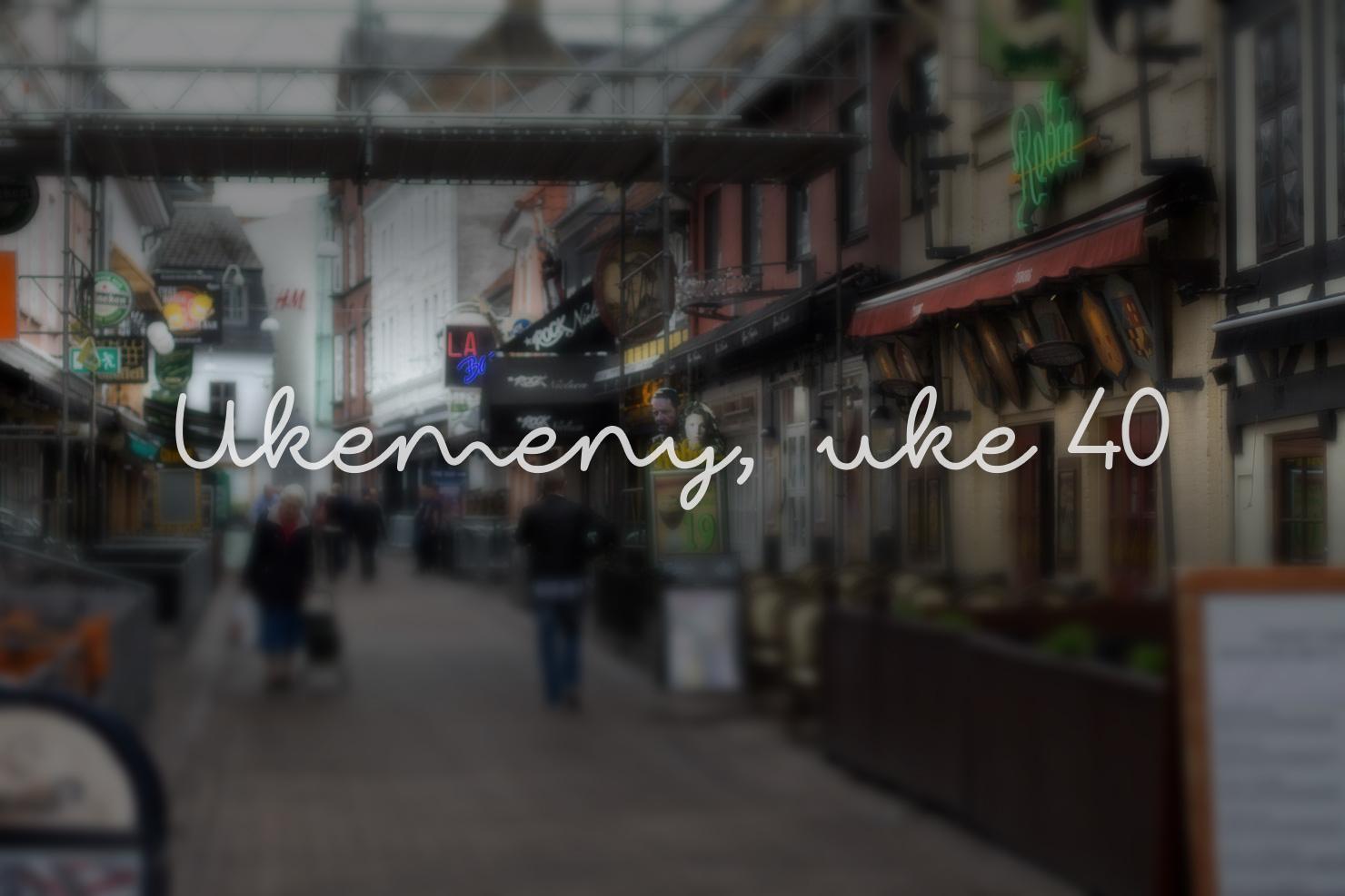 Ukemeny | Uke 40 | 2015 | Kokebloggen