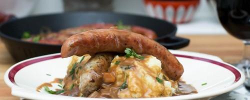 Featured | Pølse og potetstappe med Guinnessaus