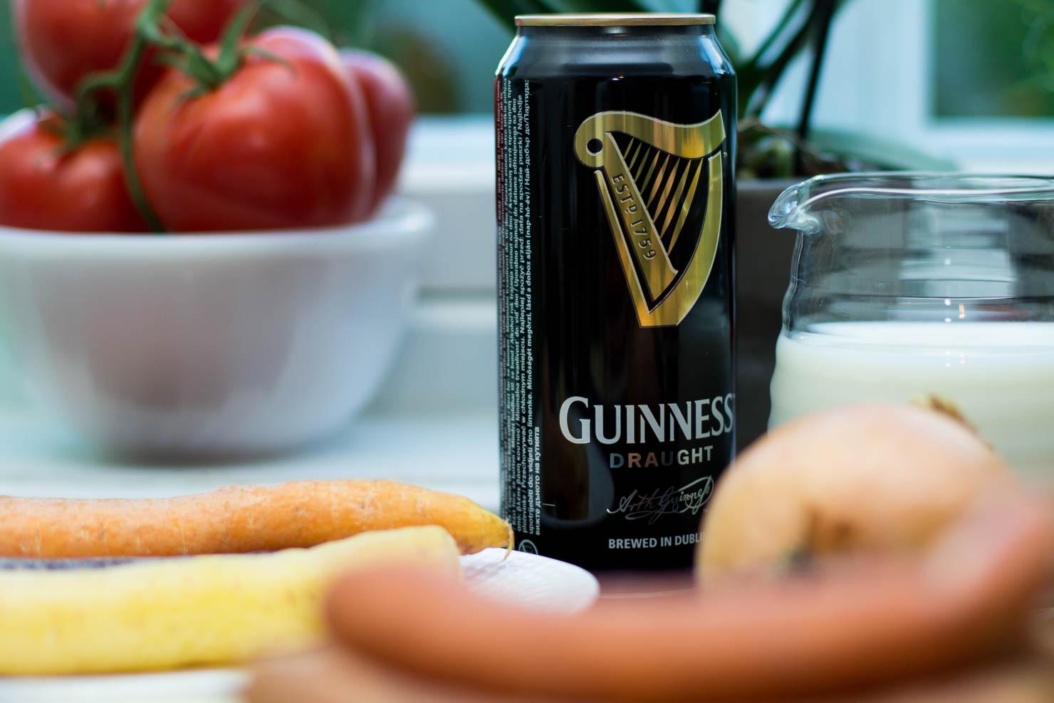Ingredienser | Pølse og potetstappe med Guinnessaus