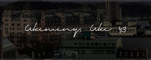 Ukemeny | Uke 43 | 2015| Kokebloggen