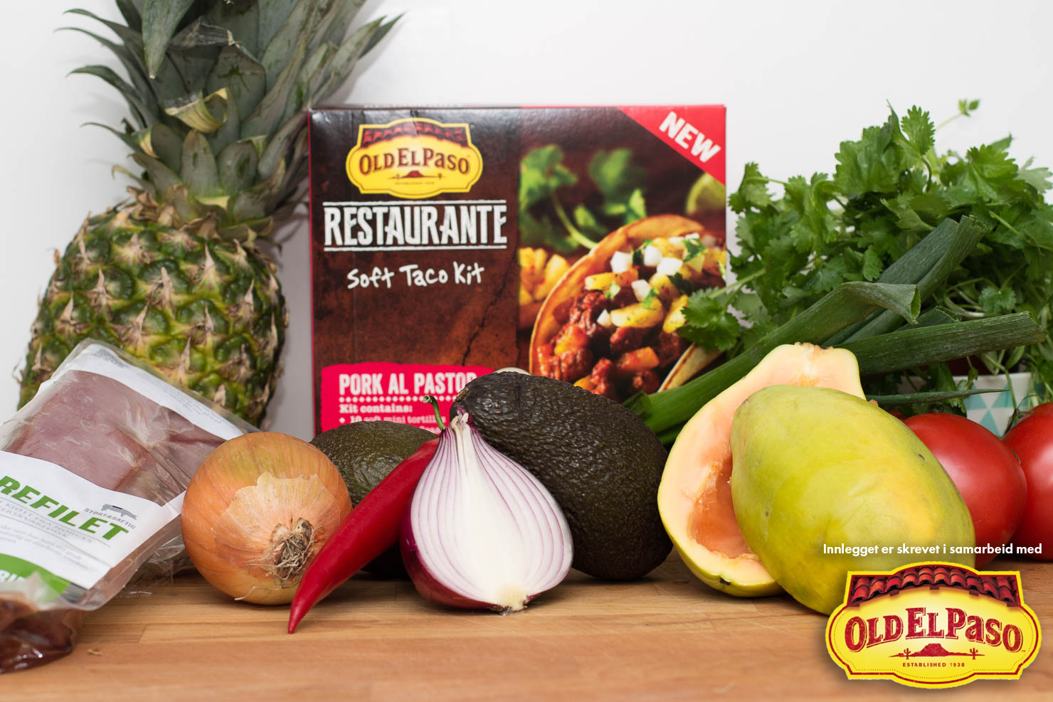 Ingredienser | Pork el pastor | Old El Paso
