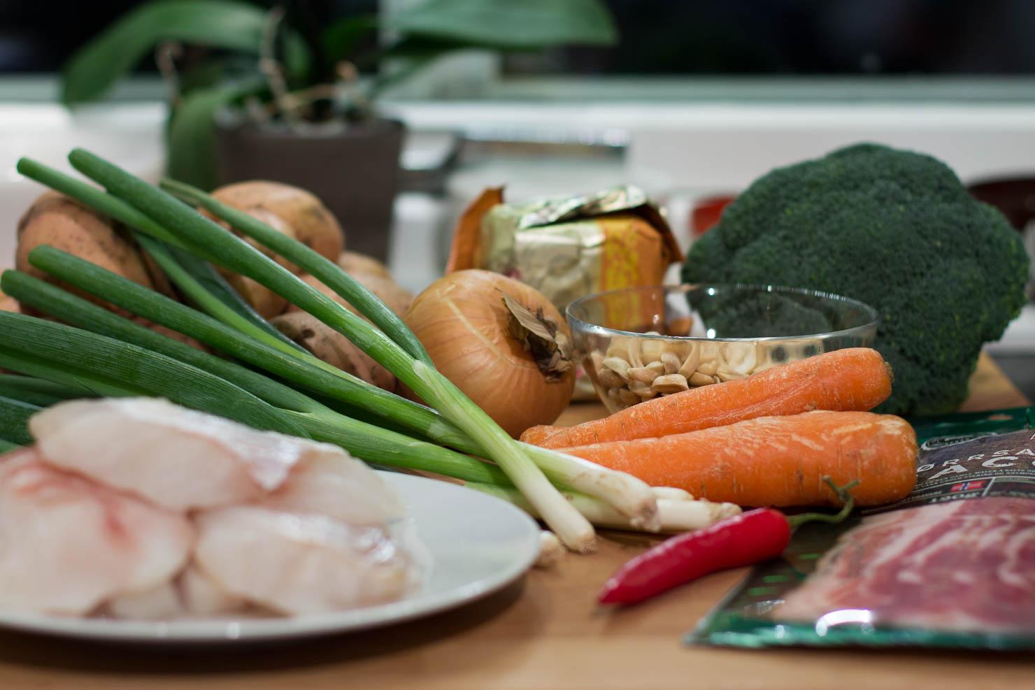 Ingredienser | Smørbakt torsk med stekte grønnsaker og potetmos