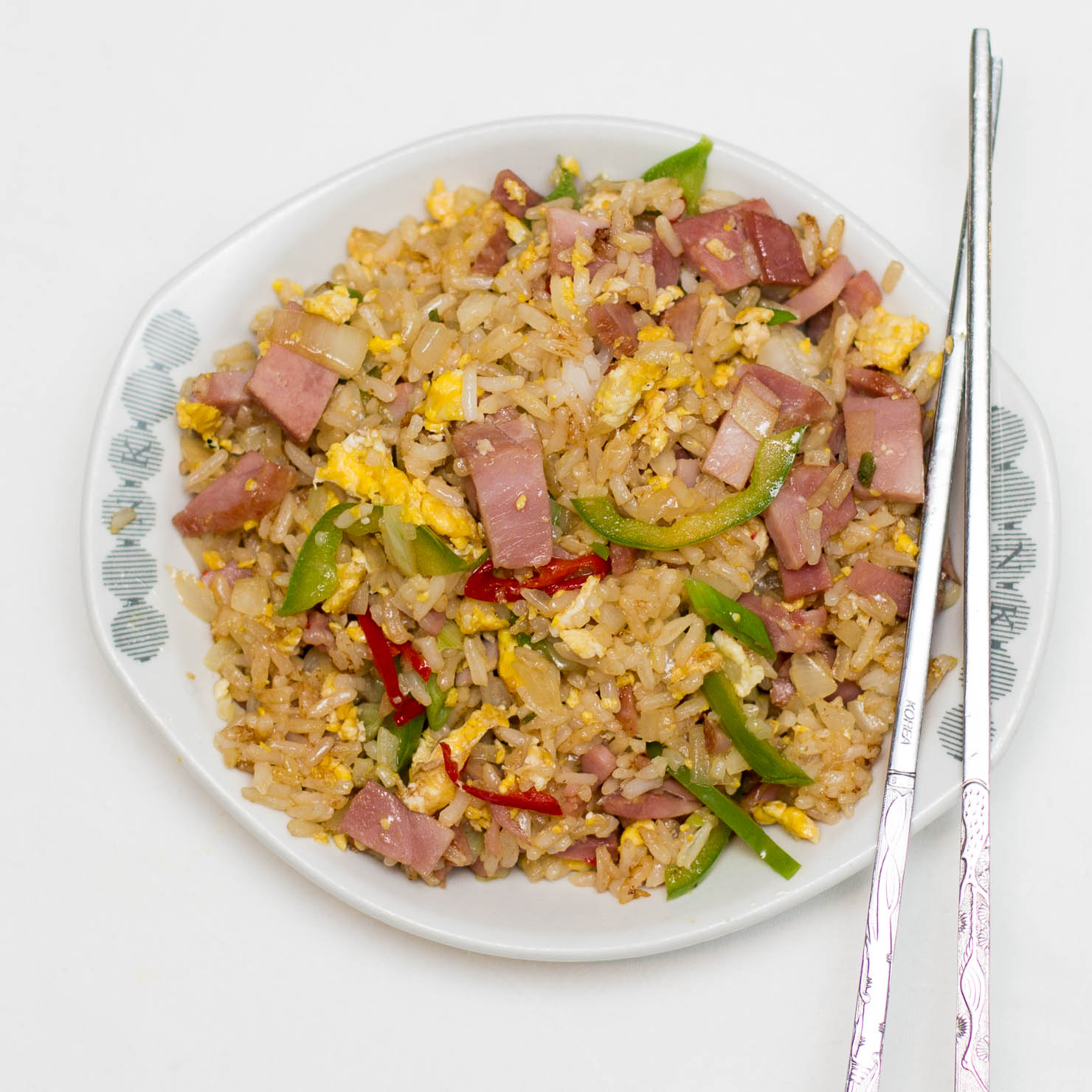 Instagram | Stekt ris med bayonneskinke