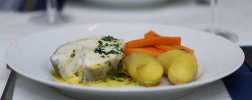 Torsk med gulrøtter og persillesmør