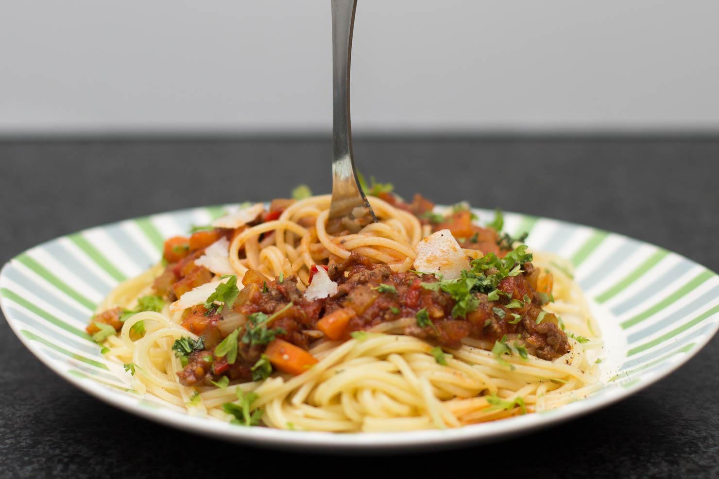Closeup | Spaghetti bolognese