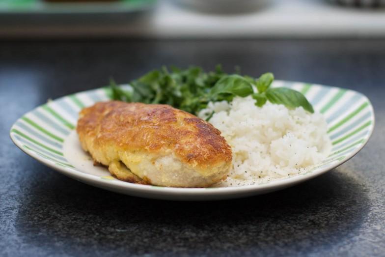 Hvitløk og parmesanpanert kyllingbryst