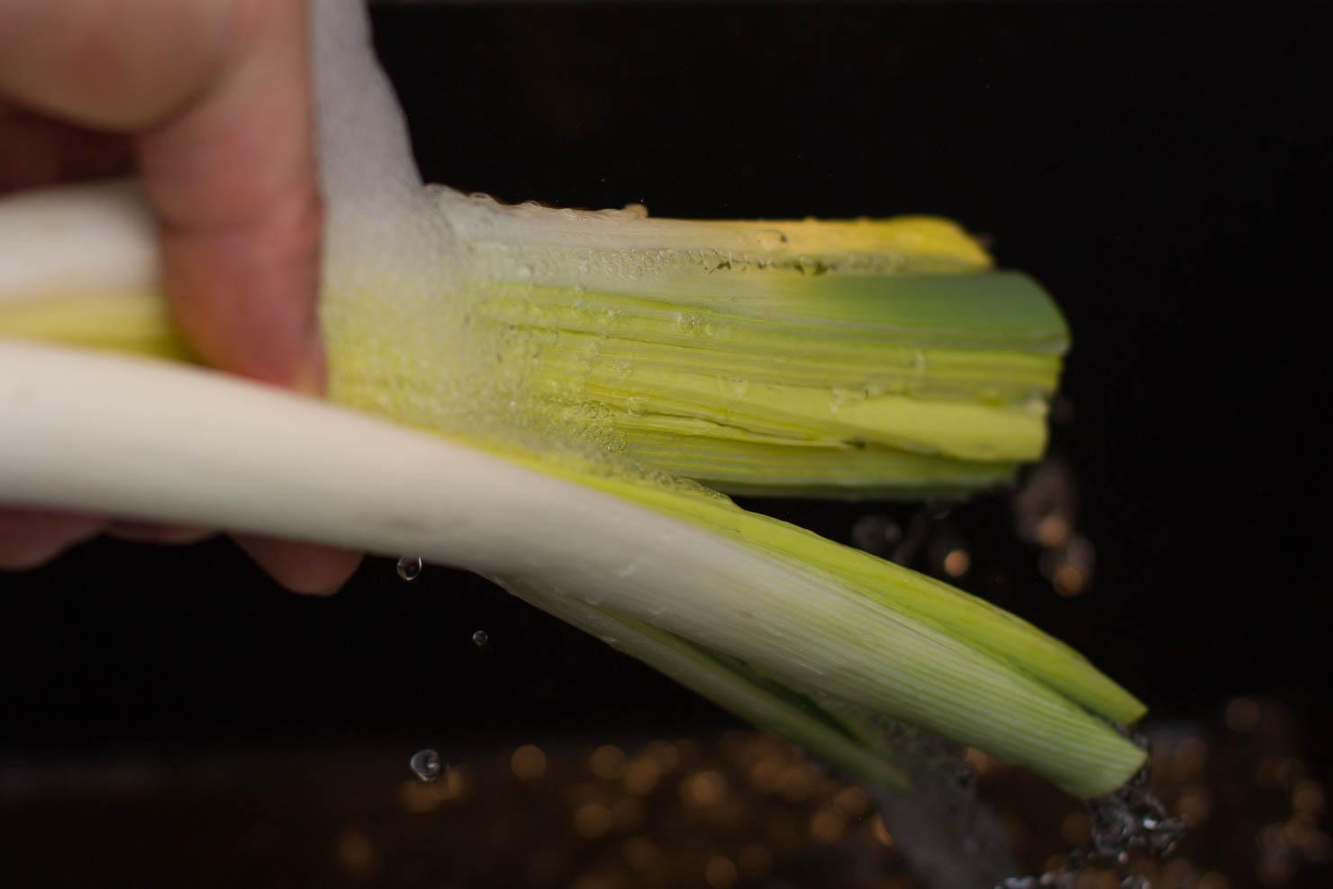 Rensing | Kutting av purreløk