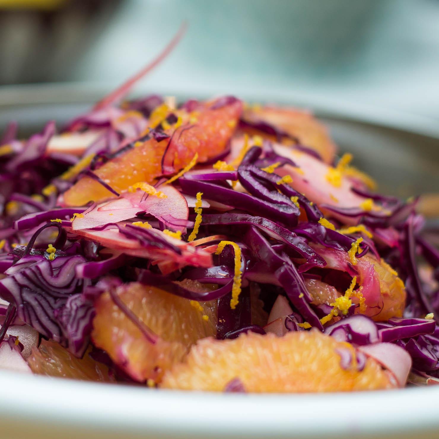 Instagram | Rødkål- og appelsinsalat