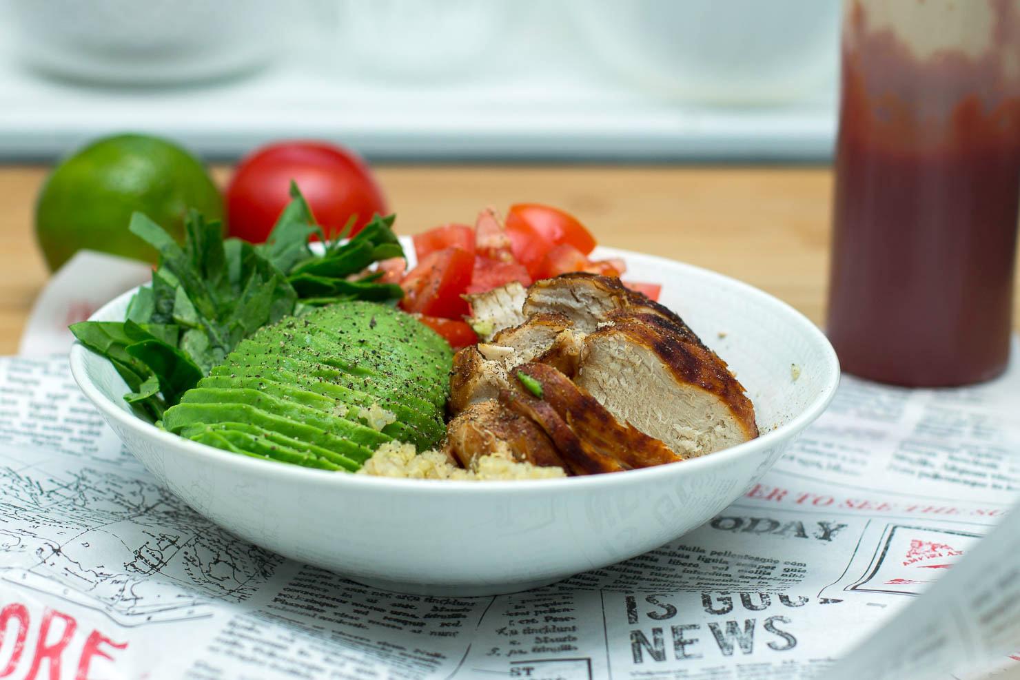 Honning- og soyaglasert kylling med quinoa